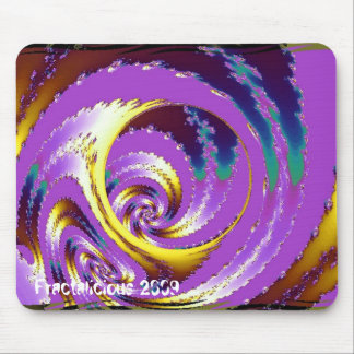 Lilac Spiral Mouse Pad