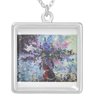 Lilac Square Pendant Necklace