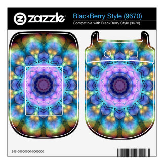 lilac stained glass kaleidoscope decal for BlackBerry