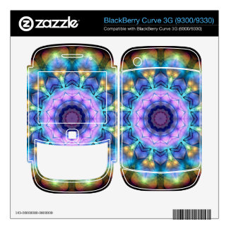 lilac stained glass kaleidoscope BlackBerry decal