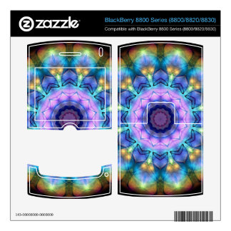 lilac stained glass kaleidoscope skin for BlackBerry 8800