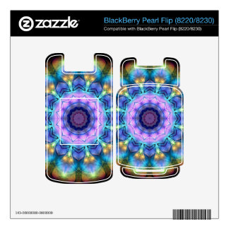 lilac stained glass kaleidoscope decals for BlackBerry