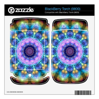 lilac stained glass kaleidoscope skin for BlackBerry
