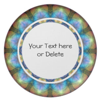 Lilac Stained Glass Window Dinner Plate