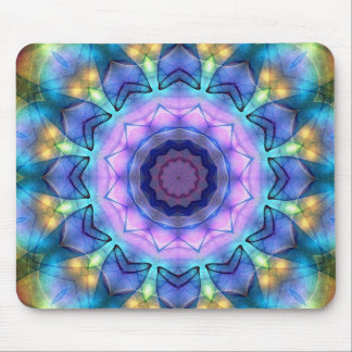 Lilac Stained Glass Window Mouse Pad