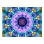 Lilac Stained Glass Window Postcard