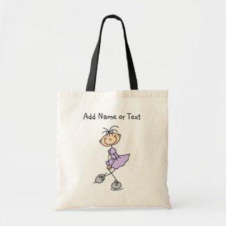 Lilac Stick Figure Girl Ice Skater Customized Bag bag