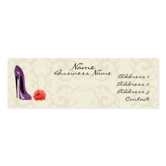 Lilac Stiletto Shoe and Rose Stylish Business Card