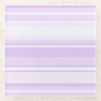 Lilac stripes glass coaster