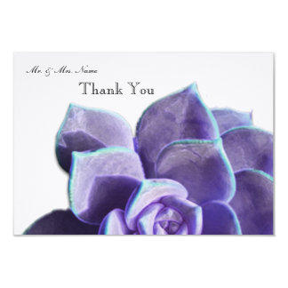 Lilac Succulent Thank You Card