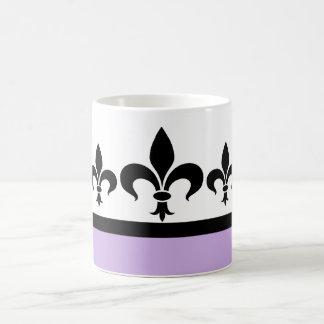 Lilac Swanky Fleur De Lis Mug