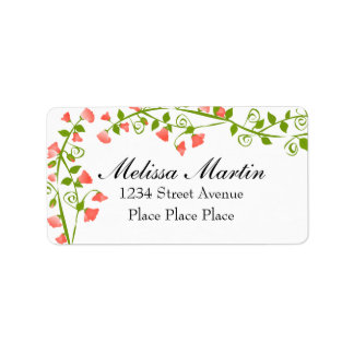Lilac Sweet-Pea Blossoms Address Label