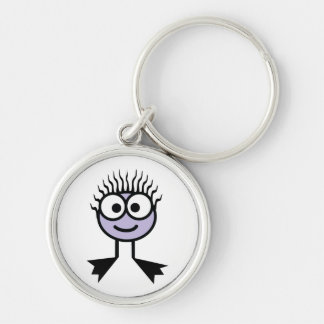 Lilac Swim Character Key Ring Keychain