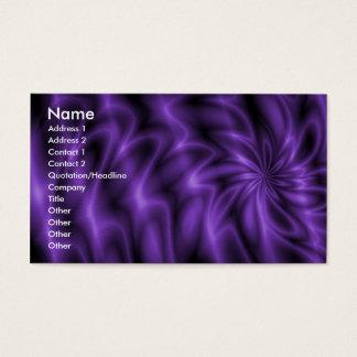 Lilac Swirl Business Card