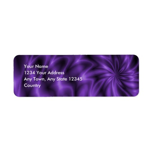 Lilac Swirl Return Address Label