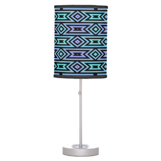 Lilac/Teal Aztec Pattern Table Lamp