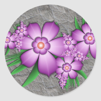 Lilac tenderness classic round sticker