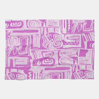 lilac tribal kitchen towel