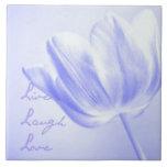 Lilac Tulip Live, Laugh, Love Ceramic Tiles