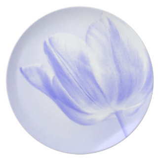 Lilac Tulip Live, Laugh, Love Dinner Plate