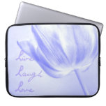 Lilac Tulip Live, Laugh, Love Laptop Sleeve