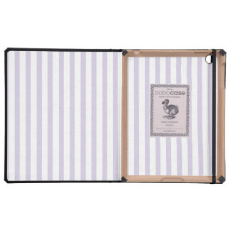Lilac Vertical Lines Case For iPad