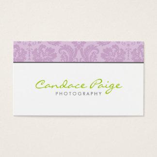 Lilac Vintage Damask Business Card