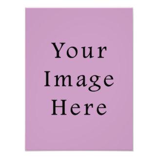 Lilac Violet Purple Color Trend Blank Template Photo Print