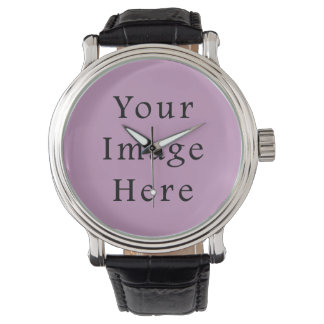 Lilac Violet Purple Color Trend Blank Template Watch