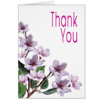 Lilac Watercolor Flowers Thank You Greeting Cards