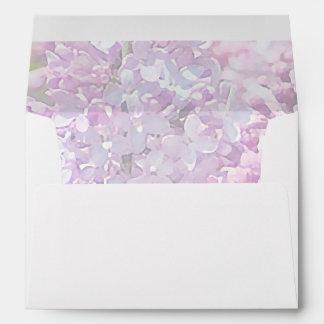 Lilac Watercolor Lavender Greeting Card Envelope