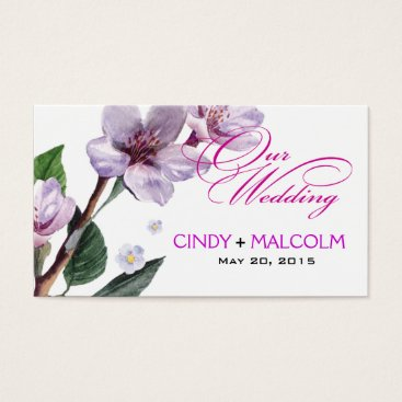 Professional Business Lilac Watercolor Wedding Website Business Card