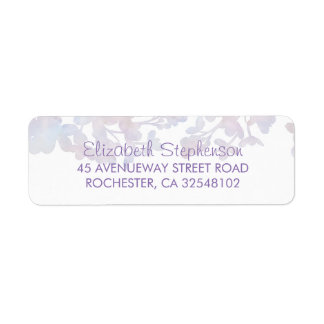 Lilac Watercolors Floral Wedding Label