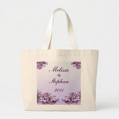 Lilac Wedding Bride Groom Bags by Bebops