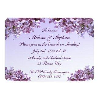Lilac Wedding Brunch 5x7 Paper Invitation Card