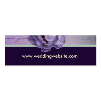 Lilac wedding cards Double-Sided mini business cards (Pack of 20)