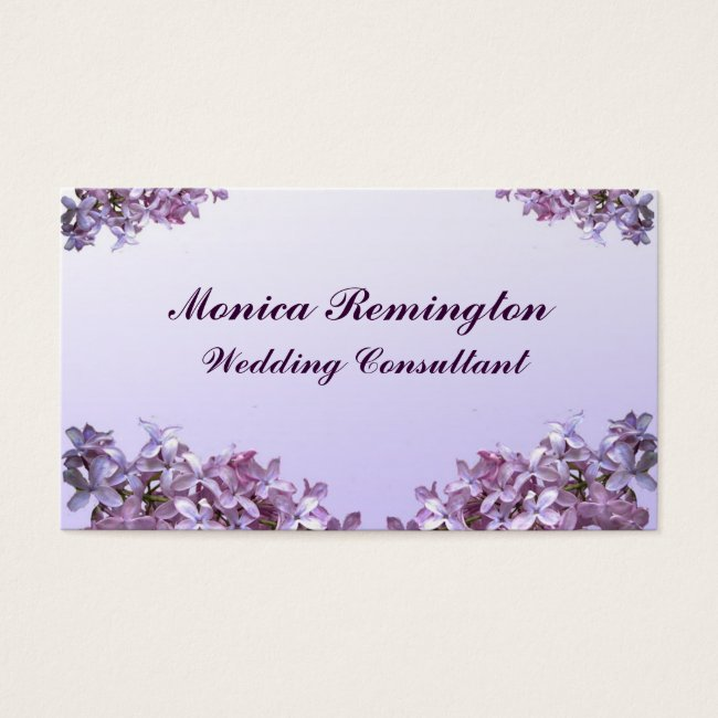 Lilac Wedding Consultant