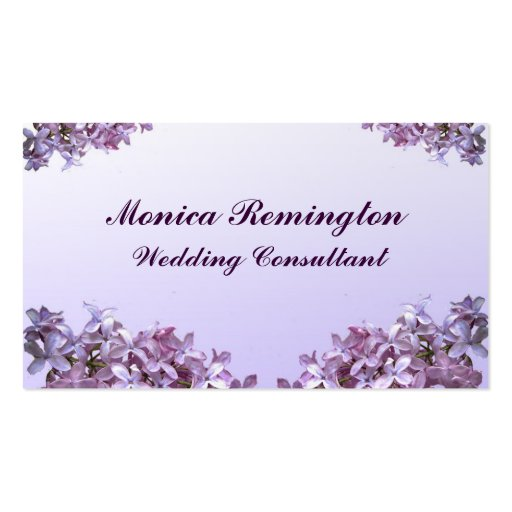 Lilac Wedding Consultant Business Card Template