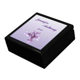 Lilac Wedding Jewelry Boxes