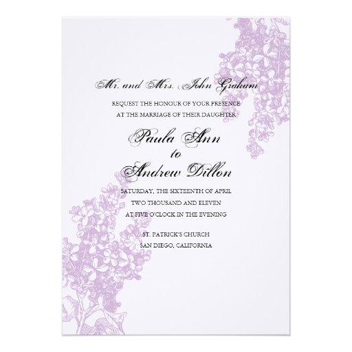 Lilac Weding Invitations 06 - Lilac Weding Invitations