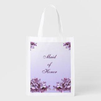 Lilac Wedding Maid of Honor Reusable Tote