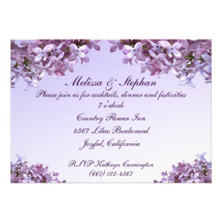 Lilac Wedding Reception Announcement