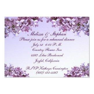 Lilac Wedding Rehearsal Dinner 5x7 Paper Invitation Card