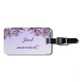 Lilac Wedding Tag For Luggage