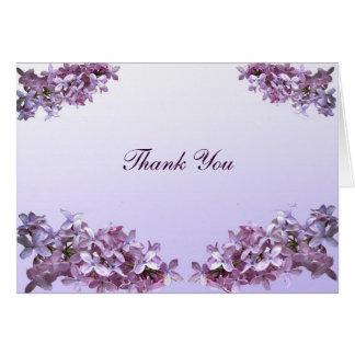 Lilac Wedding Thank You Card