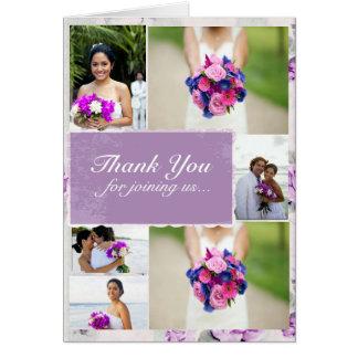 Lilac Wedding Thank You Custom Photos Note Card
