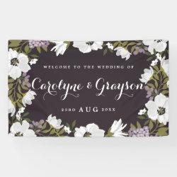 Lilac & White Anemone Blooms Wedding Banner