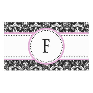 Lilac & White Classic Damask Mommy Calling / Business Card Templates