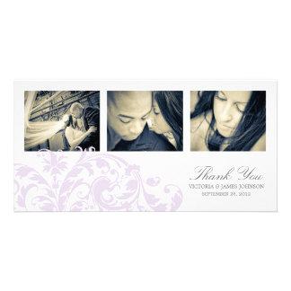 LILAC & WHITE FLOURISH | WEDDING THANK YOU CARD