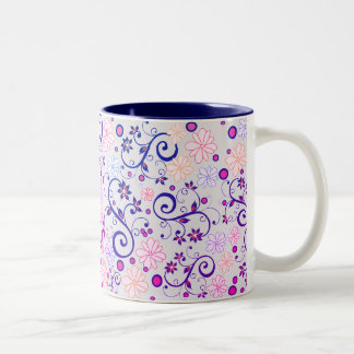 Lilac White mug with Flowers of May